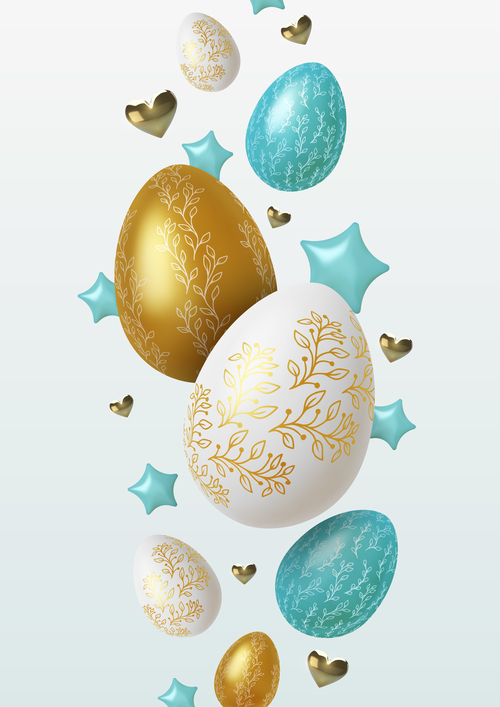 Beautiful easter egg vector