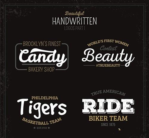 Beautiful handwritten logos vector