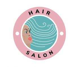 Beauty and hair salon icon vector