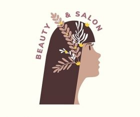 Beauty and hair salon logo vector