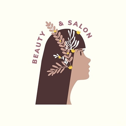 Beauty and hair salon logo vector