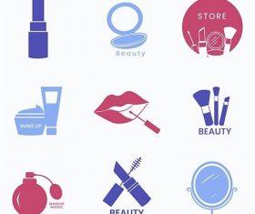 Beauty cosmetics icon set vector