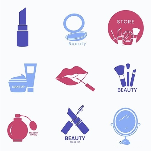 Beauty cosmetics icon set vector