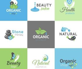 Beauty logos set vector