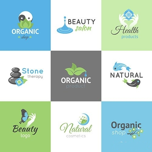 Beauty logos set vector