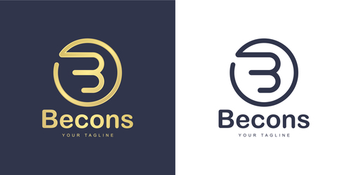Becons business logo design vector
