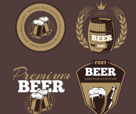 Beer label poster vector
