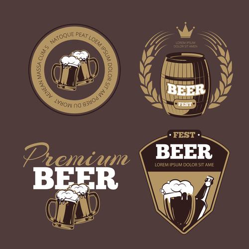 Beer label poster vector