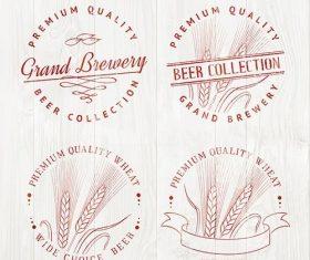 Beer logo set vector