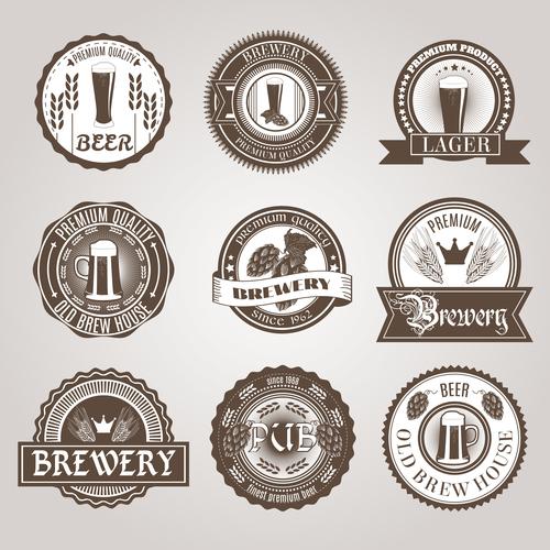 Beer trademark label vector