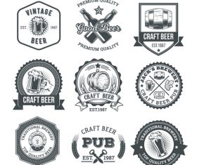 Beer vector labels