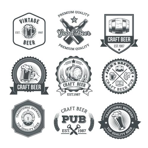 Beer vector labels