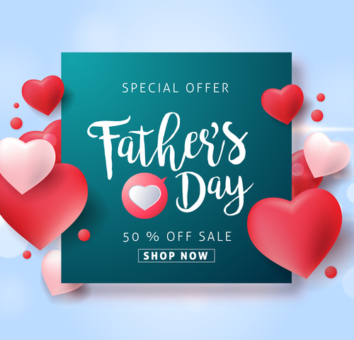 Best holiday promotion fathers day vector