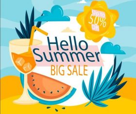 Big sale flyer design vector