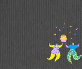 Birthday party cartoon illustration vector