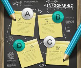 Blackboard newspaper infographic concept vector