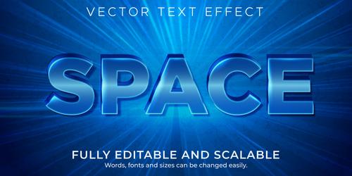 Blue flash font 3d effect text design vector