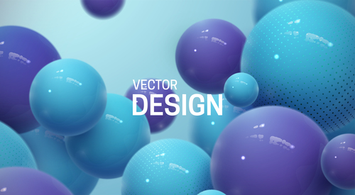 Blue sphere abstract background vector