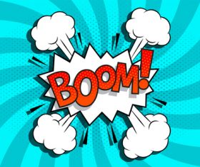 Boom comic style zoom pattern vector