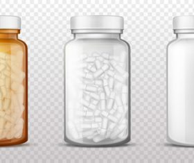 Bottled Pills icon vector