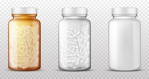 Bottled Pills icon vector