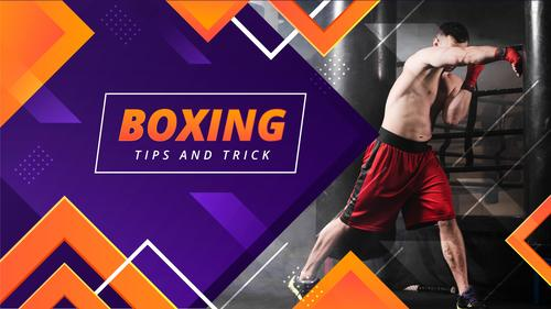 Boxing tips and trick youtube template vector
