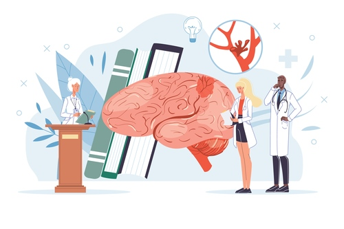 Brain medical lecture vector