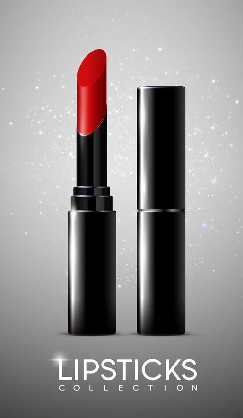 Brand lipstick vector