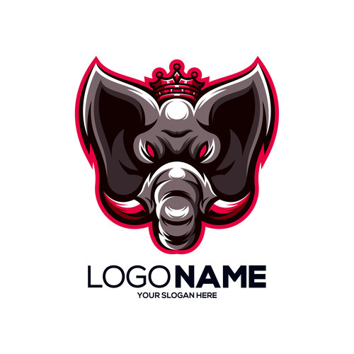 Brand name company logos design vector
