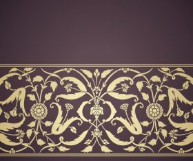 Brown artistic ornaments pattern vector