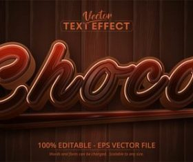 Brown font editable font vector