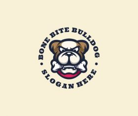 Bulldog logo mascot design vector