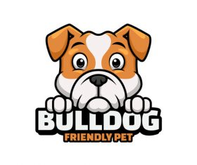 Bulldog logos design vector