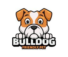 Bulldog logos design vector