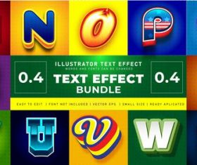 Bundle text effect vector