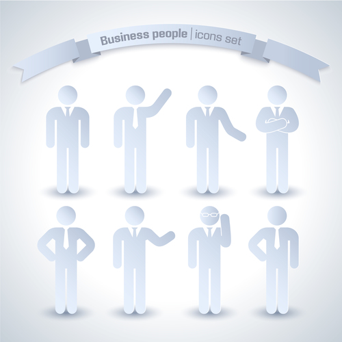 Business paper cut character vector