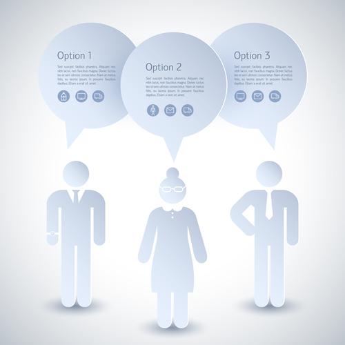Business team Infographics elements vector