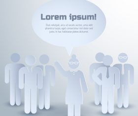 Business team composition with group of people vector