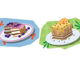 Cake cartoon illustration vector
