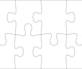 Cardboard puzzle templates vector