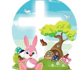 Cartoon Easter illustration vector