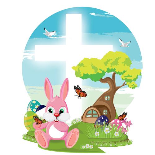 Cartoon Easter illustration vector