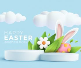 Cartoon background happy easter vector