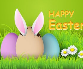 Cartoon easter card vector