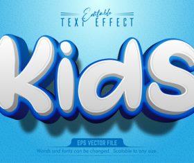 Cartoon font text effect editable vector