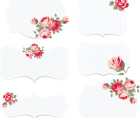 Chic flower decoration wedding invitation vector