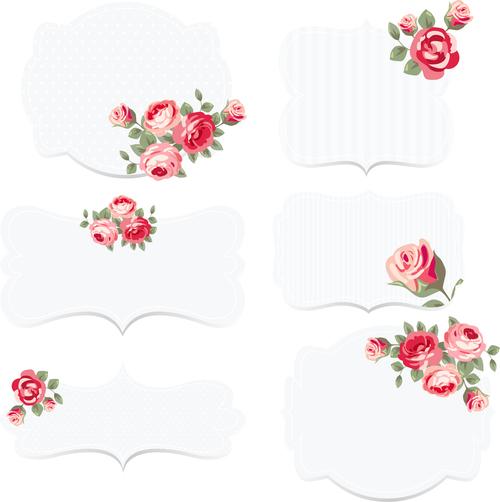 Chic flower decoration wedding invitation vector
