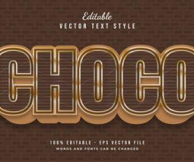 Choco text effect editable vector