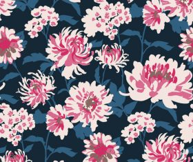 Chrysanthemum seamless pattern vector