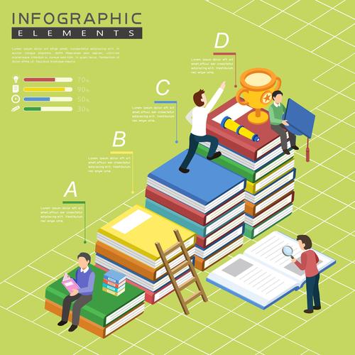 Climbing infographic template concept vector